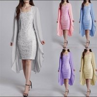 Women's fashionable and elegant lace design in summer of 2019 with two-piece dress of Goddess temperament commuting solid color