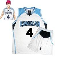 Anime Kuroko Kein Basuke Korb Kostüm Cosplay Rakuzan Schuluniformen Akashi Seijuro Männer Jersey Sportswear T-Shirt Shorts