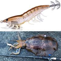 Hunthouse 3D 하이브리드 새우 Egi Luraid 낚시 오징어 지그에 대 한 11cm 20g leurre squid egi octopus calamar 유혹 하드 오징어 유혹
