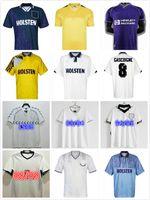 Top 1990 1998 1993 1994 Tottenham Retro Jersey 1991 1982 94 95 Home Klinsmann Gascoigne Anderton Sheringham Ginola Ferdinand Terceiro Centenário Uniformes Homens