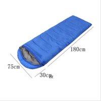 Envelope Outdoor Camping Adult Sleeping Bag Portable Ultra Light Travel Hiking Sleeping Bag With Cap HWE10417
