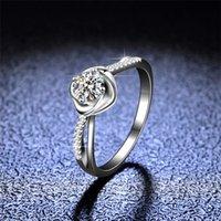 Отличный вырезанный алмазный тест прошел 0,5 карат Д. цвет моассанит роза в форме кольцо 100% реальное серебро 925 ювелирные изделия для подростков девушки