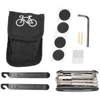 Outils Kit de réparation de vélos 16-en-1 Kit multi-outils, levier de pneu à vélo de poche, patch auto-adhésif, ET