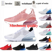 270 Running Sports Blanco y negro Pink Royal Blue Blue Zapatillas de ocio Entrenamiento al aire libre deportes deportes zapatos deportivos zapatos de jogging 36-46