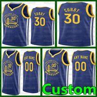 Personalizado Stephen 30 Curry Basquetebol Golden StateGuerreirosJerseys andre 9 lguodala draymond 23 basquete verde 1 russell jerseys