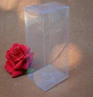 Gift Wrap 20pcs 9*9 10*10cm PVC Plastic Box Transparent Birthday Party Favor Packing Souvenir Wedding Clear Sweet Candy