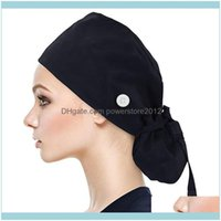 Beanies Caps Headwears Athletic Outdoor As Sports & Outdoorswomen Cap Buttons Bouffant Hat With Sweatband For Womens And Mens Unisex Solid A