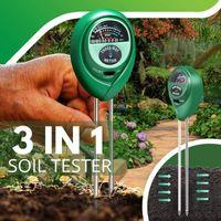 3 en 1 sol pH mètre de soleil de soleil testeur de soleil de soleil fleurs sols de capteur d'humidité du sol