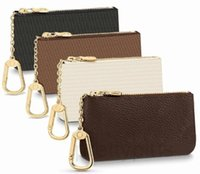 Unisex clássico chaveiro carteira zipper moeda bolsa de couro bolsa de couro bolsa chaveiro e carteira moeda sem caixa frete grátis