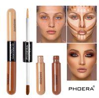 Phoera två huvud ljusa flytande concealer täcker upp och markerar ansikte naturlig långvarig concealer i fem färger