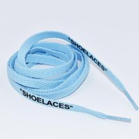 """New colorful lace Letter Font 8mm Double Sides Printed """"SHOELACES"""" Black White Signed Off Flat Shoes Lacet Joint Shoelace 120 140 160cm #309"""
