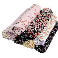 Scarves Chiffon Print Headscarf Headband Four Seasons Outdoor Decorate Floral WOMEN Adult CN(Origin)
