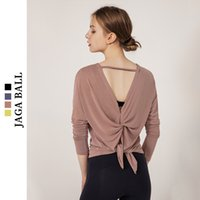 Yoga suit long sleeve T- shirt autumn winter loose top quick ...