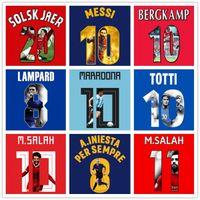 Надевающая печатающая галерея стиль Neymar Messi Salah Maradona Roman Rooney Solskjaer Cantona Giggs Iniesta Beckham Kane Zico Zidane Raul TOTT
