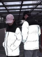 Womens 반사 재킷 망 겨울 자 켓 파크스 패션 코트 고품질 여성 다운 재킷 힙합 streetwear 패션 디자인 JK009