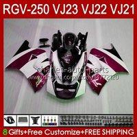 Carrocarrilos para Suzuki RGVT RGV 250 CC VJ23 RVG250 250cc Vino rojo Stock Cowling RGV-250CC Body 107HC.131 RGVT-250 VJ 23 1997 1998 RGV-250 Panel RGV250 SAPC 97 98 Carenado OEM