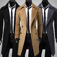 Men's Trench Coats Woolen Windbreaker Designer Jacket For Men Autumn And Winter Outwear Double Breasted Luxury Long Coat Fashion
