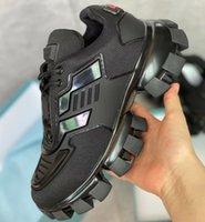 الرجال السحابة الرعد أحذية رياضية المرأة متماسكة النسيج حذاء منخفض الأعلى منصة الأحذية ضوء المطاط وحيد 3d المدربين عداء الأحذية كبيرة الحجم مع مربع