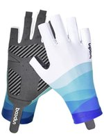 Cycling Gloves Ice Silk Fabric Fishing Sun UV+ Protection Non-slip Quick-drying Men Women Summer MTB Bicycle Gym Fitness
