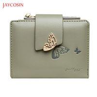 Wallets Jaycosin 2021 Women's Cards Holder Elegant Organizer Wallet Gold Butterfly Zipper Hasp Coin Purse Women Short Clutch