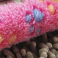 Couverture animal de compagnie mignon patte patte imprimer couvertures chien couvertures doux tapis de couchage chat chiot chat chaubia chaude couverture kennoun dort couvertures 233 s2 s2