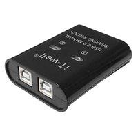 USB-принтер Sharing Switch Device 2 в 1 Out Printers Sharings Устройства 2-портовые Руководство по эксплуатации KVM Переключение Splitter Hub Converter