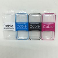 Simple Black White Clear PVC Plastic Retail Package Box For Cell Phone Charger Cable Line Display Increase Sales Packaging Box for USB Cable