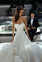 Elegant Tiered Ruffles 2022 Wedding Dresses A Line Bridal Gowns Backless Sweetheart vestidos de novia Custom Made