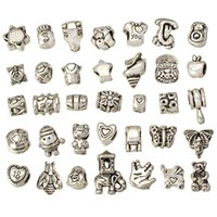 european mix beads for bracelets diy set metal big hole antique silver crafts new fashion suppliers jewelry accessories 160pcs