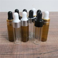 500pcs lot 5ML Mini Empty Dropper Bottle Portable Aromatherapy Esstenial Oil Bottle with Glass Eye Dropper