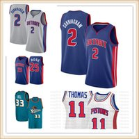 "Cade 2 Cunningham Jersey Detroit ""Pistons"" Basketball Jerseys Grant 33 Hill Derrick 25 Rose Isiah 11 Thomas Dennis10 Rodman pas cher"