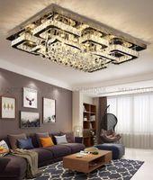 Modern Lüks Dikdörtgen LED K9 Kristal Tavan Işıkları Lambası Oturma Odası Kelebek Kanatları Avize Basit Ev Yatak Odası Fixutres Fuaye Kolye Lambaları