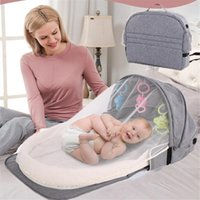 Diaper Bags Portable Baby Crib Maternity Backpack Mom Born Bed Folding Travel Beds Infant Bassinet Cot Mosquito Net Cribs Mommy Bag
