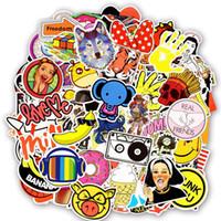 600 stücke zufällige wasserdichte lustige gemischte aufkleber spielzeug für kinder diy dekoration laptop telefon gepäck koffer skateboard straße stil aufkleber