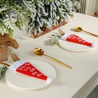 Сумки для хранения рождественских шляп для хранения столовые посуды
