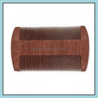 Brushes Care & Styling Tools Hair Productsfast Custom Logo Blank Amoora Beard Double-Edged Fine-Toothed Comb10Cm Length Wood Comb Drop Deliv