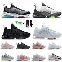 En Kaliteli Erkekler Bayan ZM950 Koşu Ayakkabıları Zm 950 Sneakers Eğitmenler Renkli Üçlü Beyaz Siyah Metalik Gümüş Şili Kırmızı NRG Japonya Boyutu 36-45