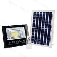 솔라 투광 조명 25W 40W 60W 100W 200W 야드 램프 IP66 6500K Pannel 야외 정원 거리 차고 공원 DHL