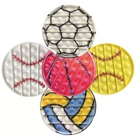 12.5Cm Fidget Toys lot pas cher Reliver Anti Stress Ball Game Football Baseball Stuff Figet Toys Adult Kid Toys Girl Gift