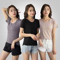 t shirt for women Modal round neck short sleeve summer white slim bottomed with black IP2B