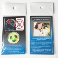 DHL - 휴대 전화 안티 방사선 가제트 유니버설 방사선 방지 스티커 휴대 전화 액세서리 opp 가방과 전화 스티커