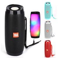 TG157 Portable LED Lamp Speaker Waterproof Fm Radio Wireless Boombox Mini Column Subwoofer Sound Box Mp3 USB Phone Computer Bass