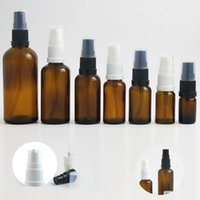 Storage Bottles & Jars 10pcs Travel Small Empty Amber Glass Perfume Bottle With Lotion Cream Pump Spray Refillable Serum Emulsion Containers