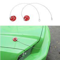 Motorhaube Latch-Lock-Pin-Fang-Dekorationsabdeckungsbesatz für Ford Mustang 2009 2011 2011 2012 2013 Autozubehör rot
