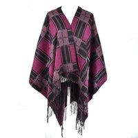 Женская зимняя украл плед шарфы Tippet Wraps Damies двухсторонний шарф женские классические декольцы шали FOLURD FEMME / SF859