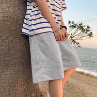 Men's Shorts 2021 Menswear Sports and Leisure Fashion Brand Loose Thin Summer Beach Pants Grey