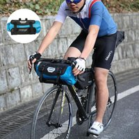 Bolsas de ciclismo Rosheweel 7l Bicicleta Manillar Bolsa Nylon Senderismo a prueba de lluvia Bicicleta de carretera Marco frontal Pannier Basket Pack