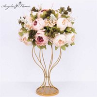 Custom 35cm artificial flower ball centerpieces+1m peonies row arrangement supply decor wedding arch table bouqet