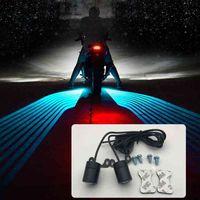 Universele Angel Wing LED Modificatie Onderdelen Motorfiets LED-achterlichten Auto Decoratieve lamp Nieuw