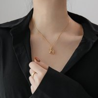 Pendant Necklaces Gold Plated Toy Dog Necklace For Women Stainless Steel Chain Jewelry Accessories Drop